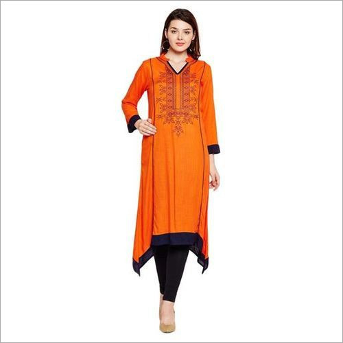 Ladies Orange Kurti