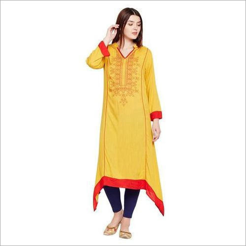 Ladies Yellow Kurti