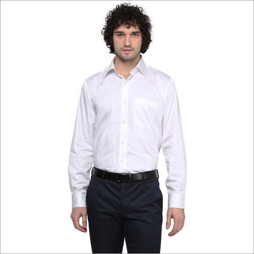 Mens White Formal Shirts