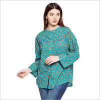 Ladies Buttoned Cotton Top