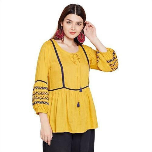 Ladies Yellow Top
