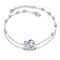 Crystals from Swarovski Blue Bubbling Fish Crystal Anklet