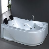 Hot Jacuzzi Bathtub for Two with Massage and Bubble System