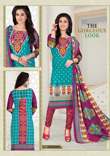 Unstiched Cotton Salwar Kameez