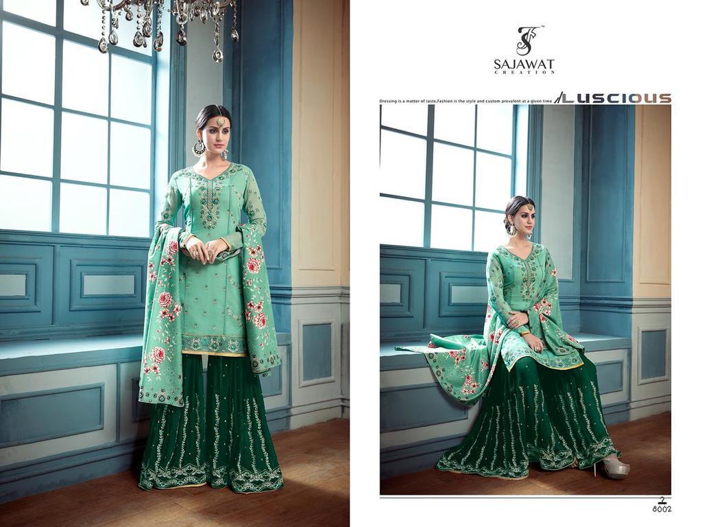 Designer Pakistani Sharara Suits