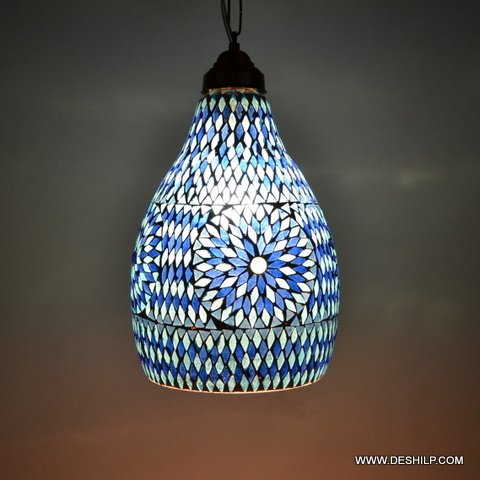 MOSAIC BLUE DECORATIVE RESIDENTIAL HANGING