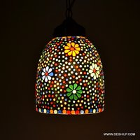 MOSAIC ROUND SHAPE HANGING,LUSTER GLASS HANGING