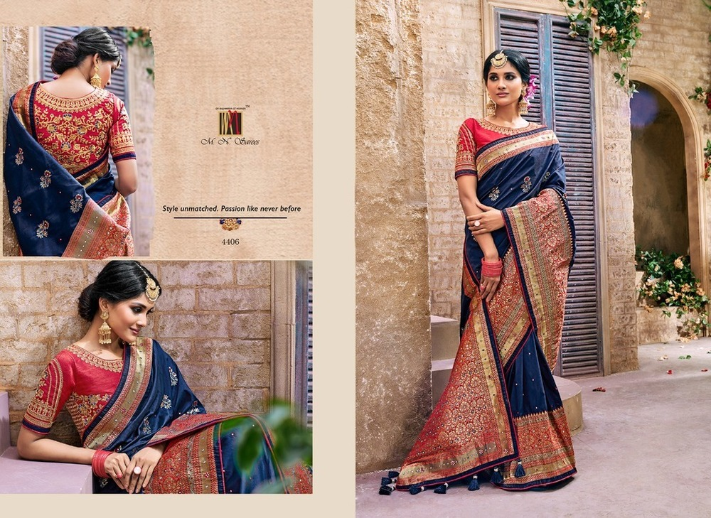 Heavy Jacquard Silk Sarees For Bridal