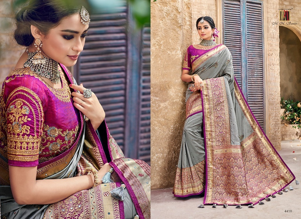 Heavy Jacquard Silk Sarees For Bridal
