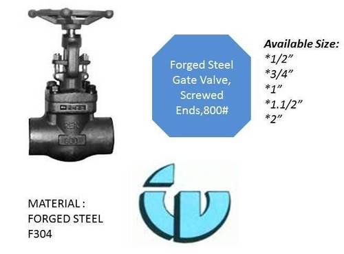 Forged Steel Gate Valve, class800  F304