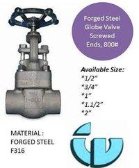 Forged Steel Globe Valve Class800 F316