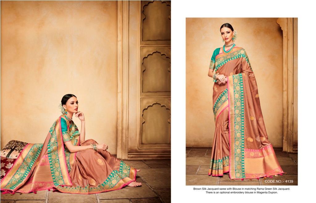 Traditional Jacquard Silk  Sarees
