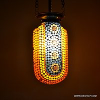 DECORATED GLASS MOSAIC GLASS HANGING,LUSTER HANGING