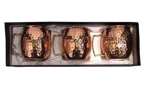 Copper Gift Set Hammered Moscow Mule Mug Pack Of 3