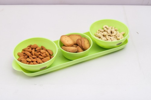 3pc Bowl Set With Tray