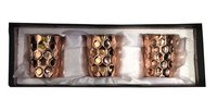 Copper Gift Set Diamond Glass Pack Of 3