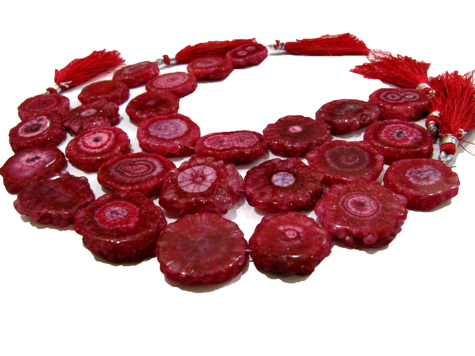 Awesome Ruby Solar Quartz Beads Size 20-25mm Beads