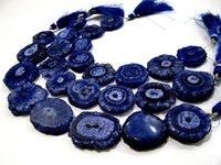 Fabulous Blue Sapphire Solar Quartz Beads Size 20-25mm