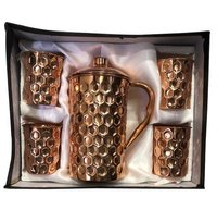 CopperKing Royal Gift Set Diamond Jug With 4 Glass