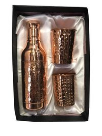 CopperKing Copper Gift set Champagne Bottle with 2 Glass