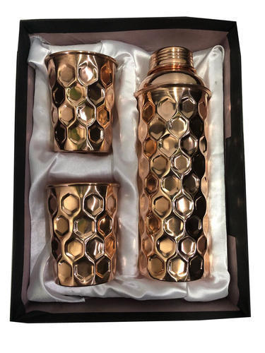 CopperKing Gift Set Diamond Fanta Bottle With 4 Glass