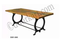 Veronica Industrial furniture Cast Iron Dining Table