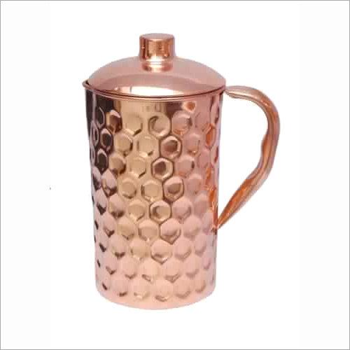 Pure Copper Diamond Design Jug