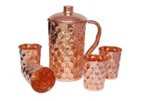 Pure Copper Diamond Design Jug