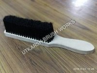Carpet Cleaning With Wooden Brush