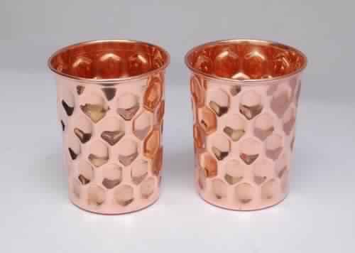 Copper Diamond Design Glass