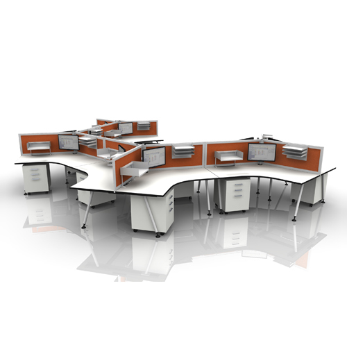 Double Sided Office Workstation