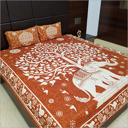 Elephant Print Bed Sheet