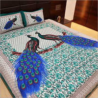 Peacock Print Bed Sheet