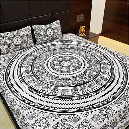 Mandala Print Designer Bed Sheet