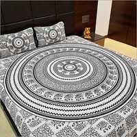 Mandala Print Designer Bed Sheet