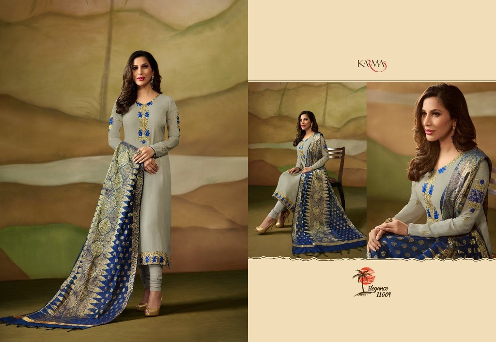 Satin Designer Salwar Kameez