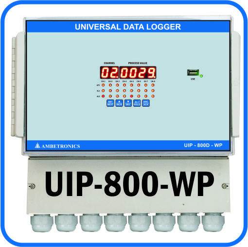 Universal Input Data Logger 8 Channel Panel mounted