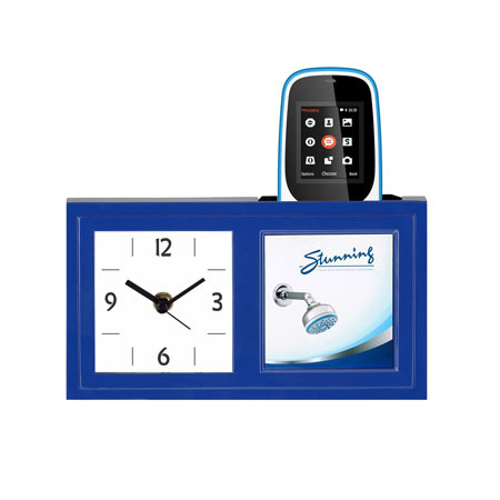 Table Clock Cum Pen Stand