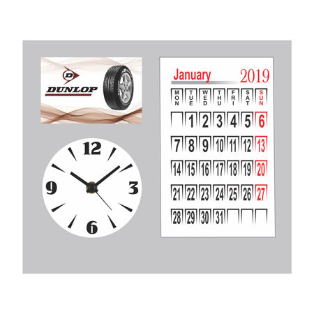 Table Calendar with Clock