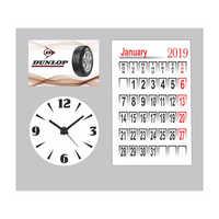Table Calendar with clock