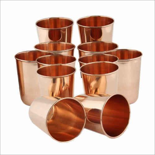 Plain Pure Copper Glass