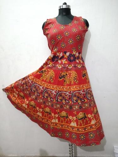 Elephant Printed Long Dress