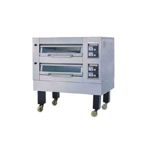 2 Deck Steaming Electric Baking Oven