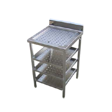 Clean Glass Perforated Top & 3 Shelves