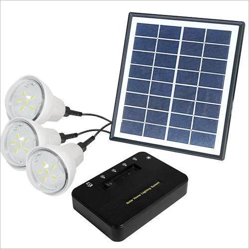 Solar Home Light With 3 Bulb