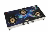 3 burner 322 glass segment digital(blue flower)