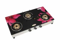 3 burner 322 glass segment digital(Pink lilly)