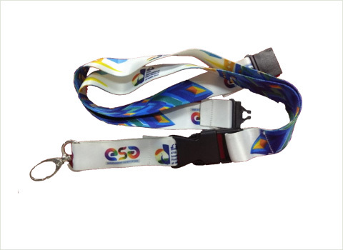 Custom printed Lanyard with safety hook