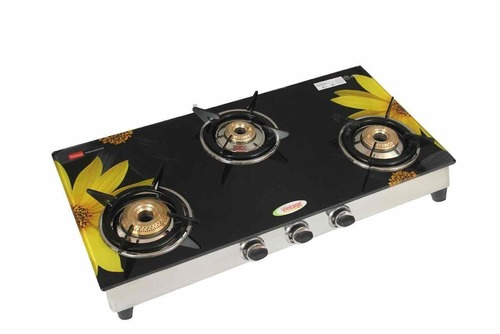 3 burner 322 glass segment digital(Sunflower)