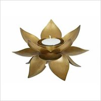 Brass Lotus Tea Light Holder